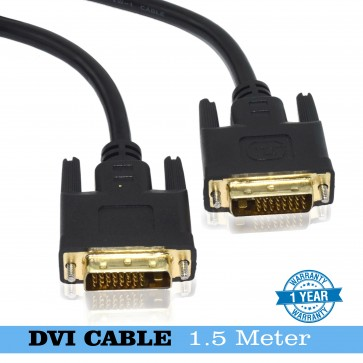 Wholesale  DVI-I Dual Link Digital Analog Monitor Cable 24+1 pin Male to Male(1.5m 150cm 4.5ft)