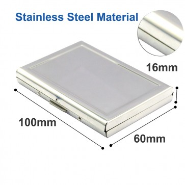 Wholesale RFID Stainless Steel Debit/Credit Card Holder 6 Slots-Silver