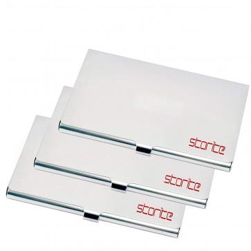 Storite pack of 3 Steel Visiting and Business Card Holder for Men Women