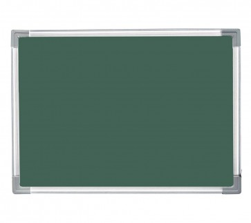 Storite Melamine Non-magnetic Green Chalk board with Lightweight Aluminum Frame - 2x3 Feet