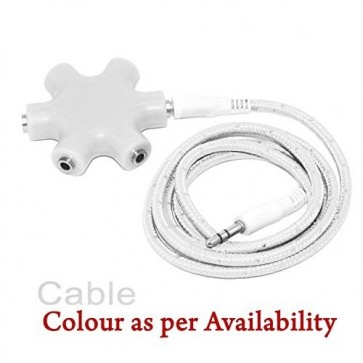 Wholesale 3.5mm Multi Headphone (Rockstar) Splitter Adapter - White