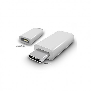 Wholesale USB Type-C to Micro USB Adapter For Charging OnePlus Two 1+2 , Nexus 5x , Nexus 6P , Apple New 12 inch Retina MacBook Etc - White