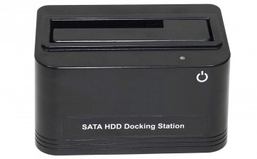 USB 3.0 to SATA Single-Bay External Hard Drive Docking Station for 2.5/3.5 Inch HDD/SSD with 8TB Drive Support