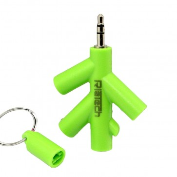 RiaTech Tree Shape 3.5mm 4 Port Headphone/Earphone Splitter for Mobile, Smartphones and Laptops (Color may very)