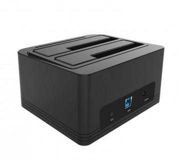 Dual Bay SATA to USB 3.0 External Hard Drive Docking Station for 2.5/3.5HDD with Duplicator/Clone Function-Black