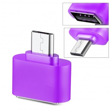 Wholesale Square Micro USB 2.0 OTG Adapter for Smartphones & Tablets (Purple)