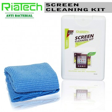 RiaTech 2 in 1 screen cleaning kit for LCD Screen of Mobiles Tablets and Laptops