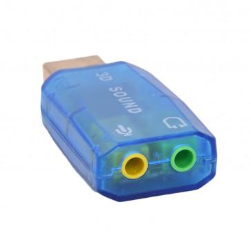 Wholesale 5.1 Channel USB 2.0 Sound Card - Blue