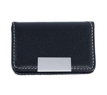 Storite Leather Pocket Sized Business Credit Debit Card Holder Case Wallet -Black