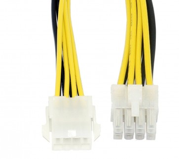 ATX 8-Pin CPU Male to Female Power Extension Cable 12V - 8 Inches/20 cm