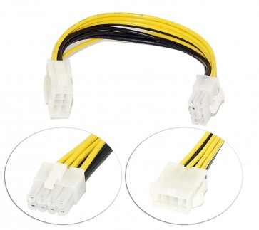 Wholesale SMPS 8 PIN EXTENSION IN 0.20M - RiaTech 8 pin male to female suitable for extending 12V - 8pin cable of Power Supply