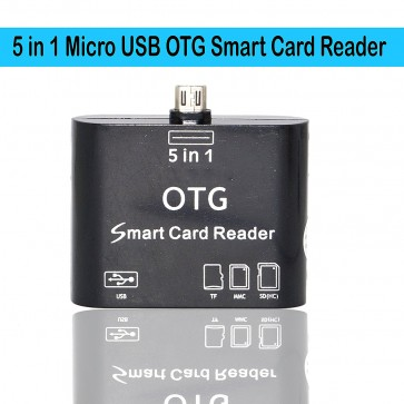 Wholesale 5 in 1 OTG USB 2.0 Micro Card Reader - Black