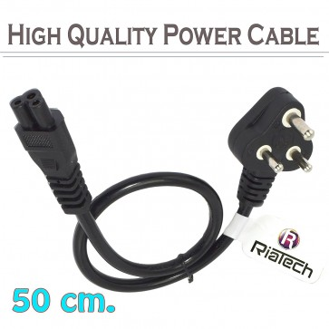 Wholesale Laptop Power Cable Cord 3 Pin Laptop Adaptor Charger (50 CM)