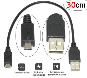 USB 2.0 Micro Charging Sync Data Cable Fast Charging- 30cm