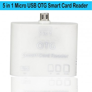 Wholesale 5 in 1 OTG USB 2.0 Micro Card Reader - White