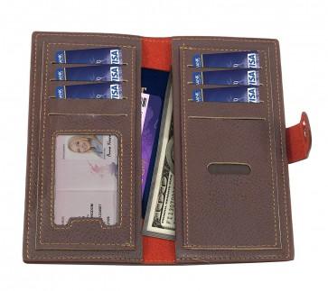Storite PU Leather Credit/Debit Cards Wallet Purse for Men & Women- Brown