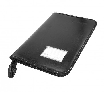 Storite Leather File and Folder for Document A4 Size with 40 Transparent Sleeve Black