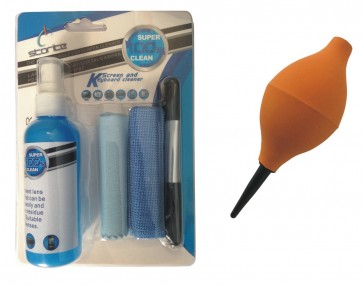 Wholesale Combo Pack Orange Air Blower + Storite 4 Pieces Screen Cleaning Kit