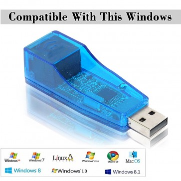 Storite USB 2.0 to LAN Adapter/USB 2.0 Ethernet 10/100 Network LAN RJ45 Adapter For Windows Only - Turn Your USB 2.0 Port into LAN Input!