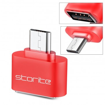 Wholesale Square Micro USB 2.0 OTG Adapter for Smartphones & Tablets (Red)