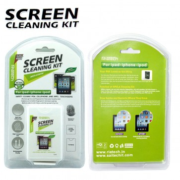 Wholesale RIATECH 2 IN 1 CLEANING KIT FOR IPAD,IPHONE,IPOD (KCL-1054)