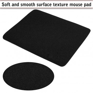 3mm Thickness Speed Rubber Mouse Pad Black 1030 Skid Resistant -Black