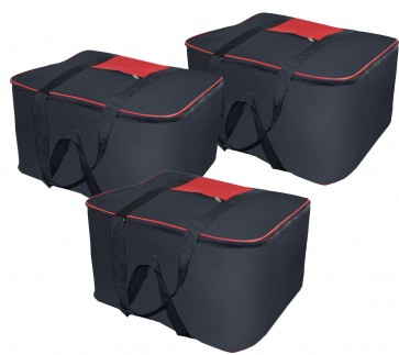 Storite Set Of 3 Underbed Moisture Proof Nylon Storage Bag- (54x46x28 cm, Black)
