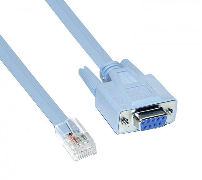 9 Pin Db9 Serial Rs232 Port To Rj45 Cat5 Ethernet Lan