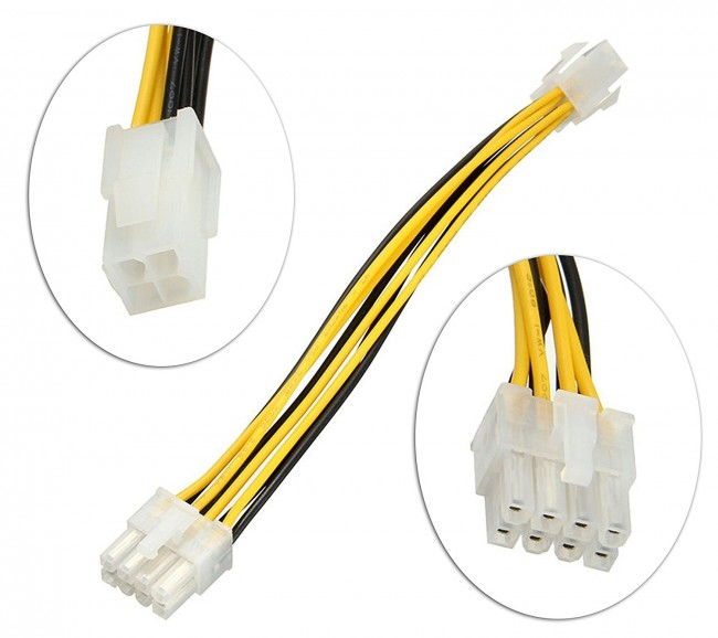 Wholesale SMPS 4 PIN TO 8 PIN Converter In 0.20M - 8 pin male to 4 ...