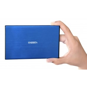 Wholesale USB 3.0 to 2.5-Inch SATA External Aluminum Hard Drive Enclosure - Blue