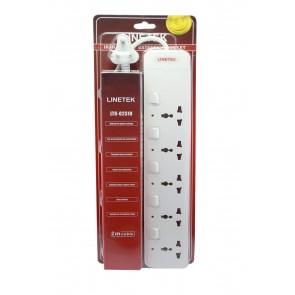 Wholesale Linetek Power Extension Board 5 socket with 2 USB port 2 meter length Cable LTK-G251U