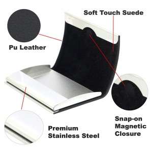 Wholesale Credit / Business Card Holder Men & Women Premium Quality - Black