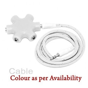 Storite® 5-Way 3.5mm Audio Jack Stereo Multi Headphone Splitter Cable Adapter for All Android/Smart phone- White