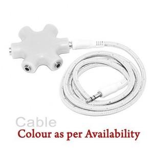 Wholesale 3.5mm Multi Headphone (Rockstar) Splitter Adapter - White
