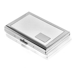 Wholesale RFID Secure Stainless Steel Card Holder For Men & Women-White