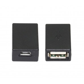 USB 2.0 A Female to Micro USB 5 Pin Female Adapter Converter - Black