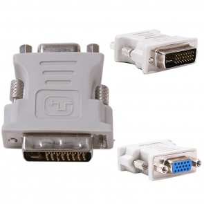Wholesale DVI-I Dual Link Male 24+5pin to 15 pin VGA Female Adapter for Dual Monitor Display