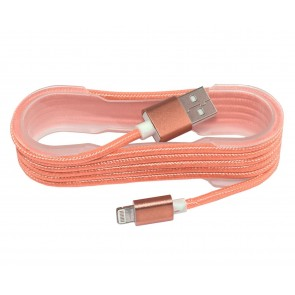 Wholesale USB 2.0 IPhone 5/6 Charging And Sync Cotton braided cable- Orange