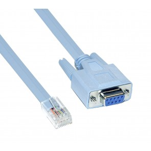 9-Pin DB9 Serial RS232 Port to RJ45 Cat5 Ethernet LAN Rollover Console Cable Switch Line