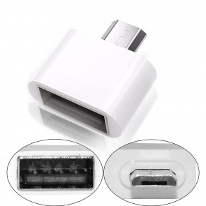 Wholesale Square Micro USB 2.0 OTG Adapter for Smartphones & Tablets (White)