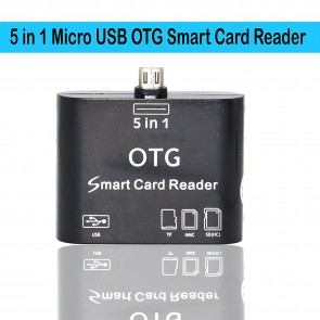 Wholesale 5 in 1 OTG USB 2.0 Micro Card Reader - Black