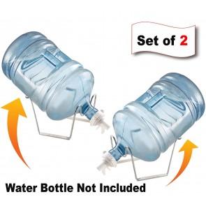 Storite Stainless Steel Water Dispenser Valve Dustproof Plug Stand For 20 litter Jars pack of 2