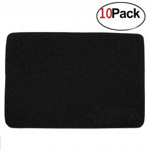 SaiTech IT  3MM Thickness Speed Rubber Mouse Pad Black 1030 Skid Resistant -Black- (10 Pack)