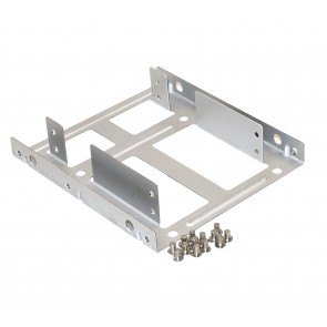 "Storite Solid Steel SSD / HDD 2.5"" to 3.5"" Mounting Bracket / Kit (Silver Steel)"