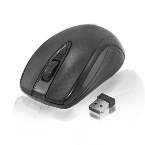 Wholesale Optical Wireless Mouse With CPI Button - Black