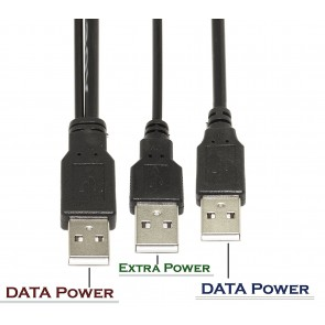 Wholesale USB 2.0 Type A Male to Dual USB A Male Y Splitter Cable - 75CM