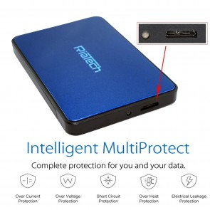Wholesale USB 3.0 Tool Free Screw Less  2.5-inch SATA External Hard Drive Enclosure - Blue