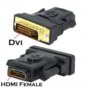 Storite HDMI Female To DVI-D (Dual) Male Adapter 24+1 LCD HDTV DVD - Coupler (HDMI f to DVI-D male connector)
