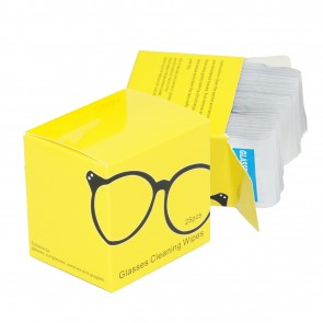 Wholesale Disposable Paper Lens Cleaning Wipe for Different kinds of Glasses (25 Wipes)