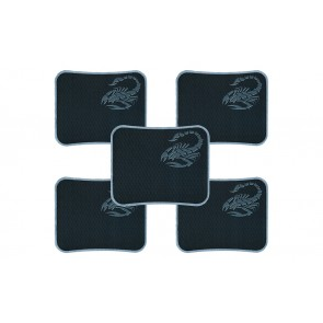 RIATECH Water Resistance Coating Natural Rubber Gaming Mouse Pad with Stitched Edges And Non Slippery Rubber Base - (29.5 x 23 x 0.2 cm) (5-Pack)